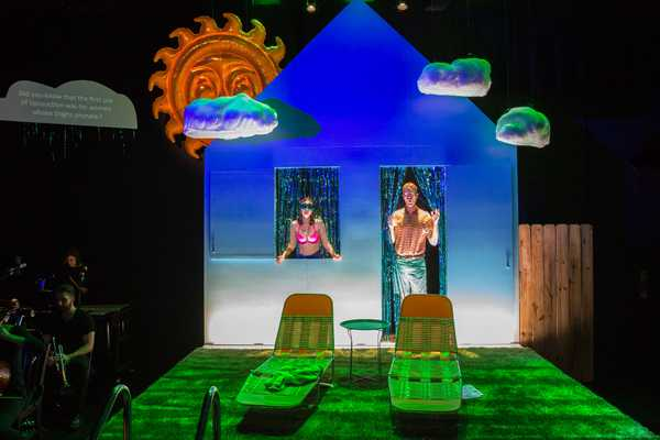 A scene from a live stage production of Chunky in Heat, directed by Alison Moritz.