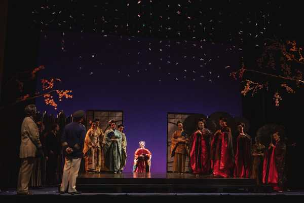 A scene from a live stage production of Madama Butterfly, directed by Alison Moritz.